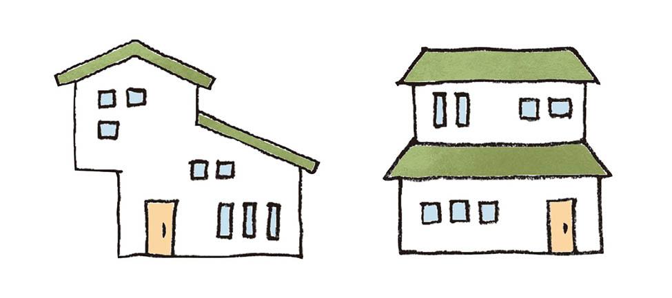 バランスのいい家と悪い家