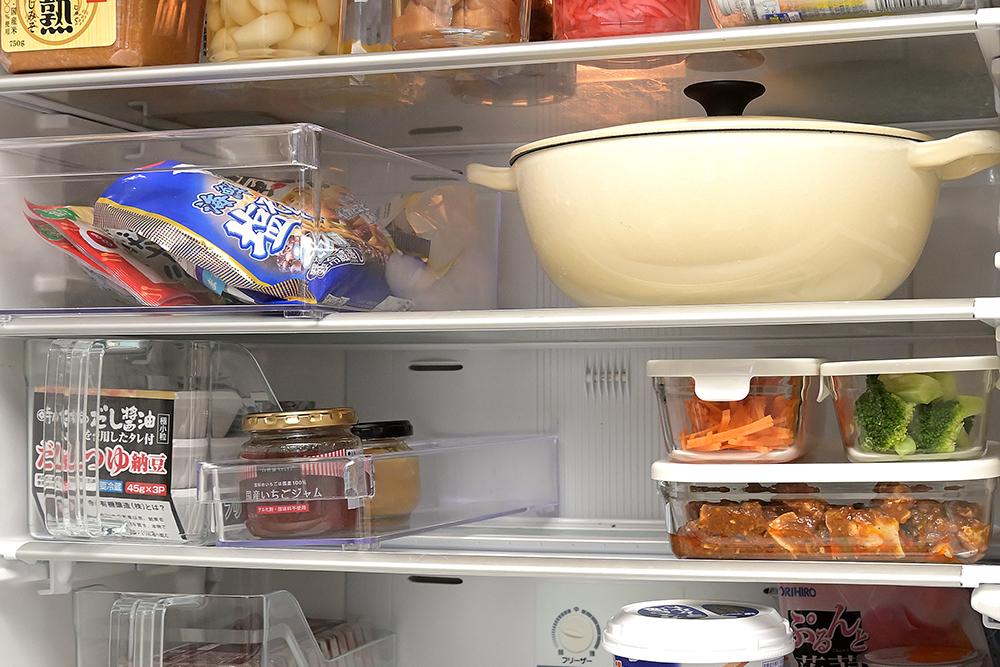 冷蔵庫中段にザックリ収納