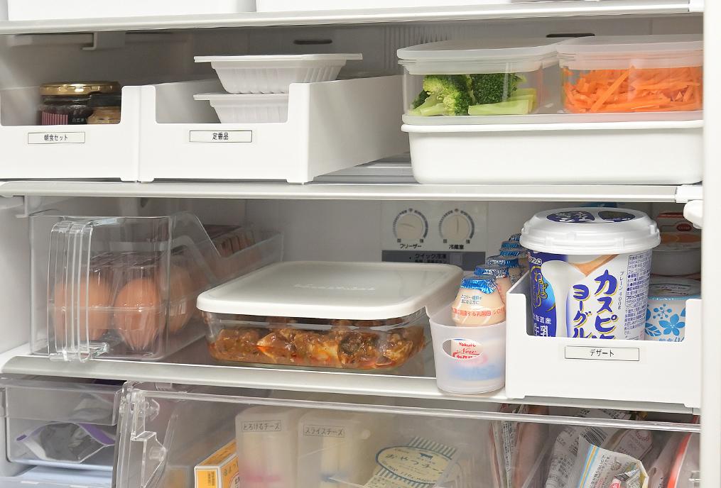 冷蔵庫下段にきっちり収納